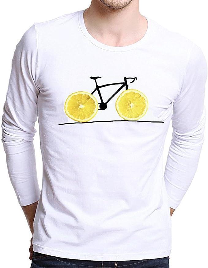 VICGREY Camiseta de Manga Corta para Hombre Elegantes, Sudadera para Hombre Camisa Manga Larga impresión Camiseta Casual Camisas Blusa otoño Invierno Sudaderas Hombre Joven Tumblr Plus Size Bianco XS: Amazon.es: Ropa y