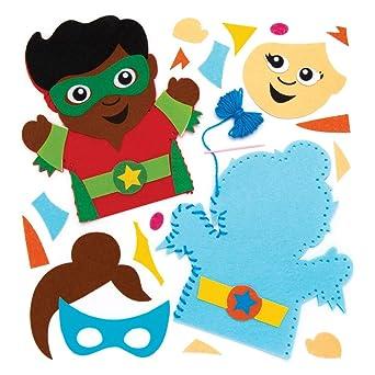 Baker Ross- Kits de costura de marionetas de mano con superhéroes ...