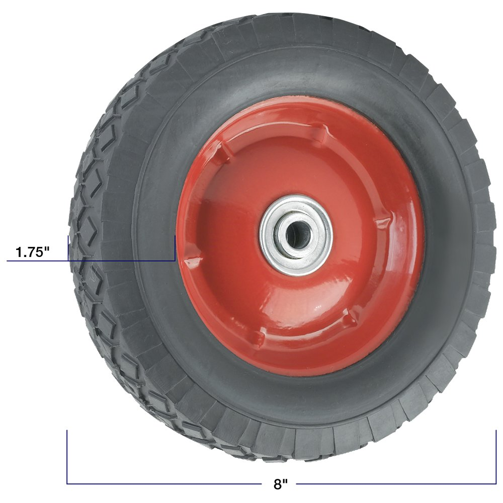Titan Casters by Waxman Replacement Wheel with Symmetrical Steel Hub - 6-Inchx 1.5-Inch - 50 lb. Load Capacity - For use on Wheelbarrows, Wagons, Carts, & Many Other Products Waxman Consumer Products 4139055