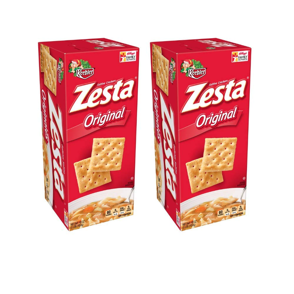 Keebler Zesta Original Saltine Snack Crackers 16 Oz - Pack of 2 by Zesta