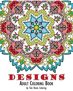 Amazon Adult Coloring Books Mandala Coloring Book For Stress