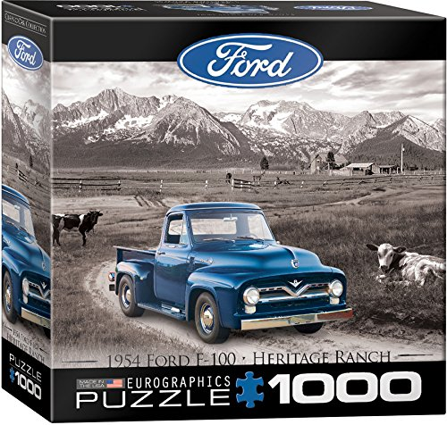EuroGraphics 1954 Ford F-100 (Classic Car Collection) Jigsaw Puzzle (8000 Jigsaw Puzzle)