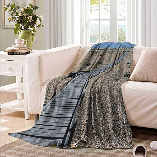 Oncegod Super Soft Blanket Beach Coastline Pebbles Peace Blanket on Bed Sofa Bedding 93