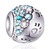 EMOSTAR Dog Paw Print Charms with Colorful