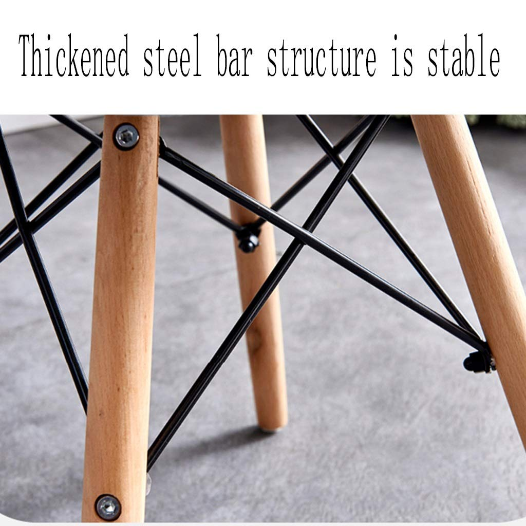 HEJINXL köksstol matrumsstol 2-pack, fjärilsstol lädersäte bok ben för vardagsrum kök kontor kafé datorstol (färg: 12) 8