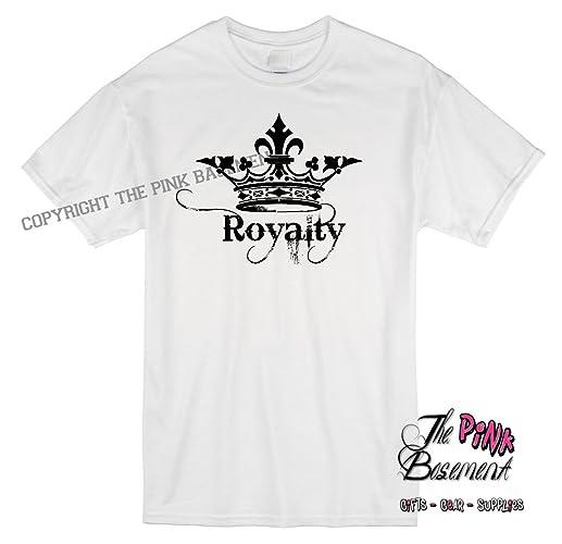 Amazon.com  HANDMADE Royalty Royal Crown Funny Humor Unisex Womens Best  Friend Husband Wife Tshirt T Shirt Ladies gag gift Humor Personalized Punk  Goth  ... 7f1387689