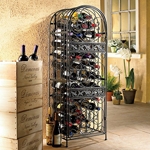 Wine Enthusiast Renaissance Wrought Iron Wine Jail by Wine Enthusiast