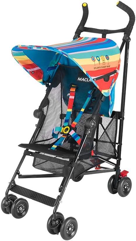 Opinión sobre Maclaren Volo Dylan's Candy Bar Silla de paseo - ligera, de los 6 meses hasta los 25 kg, suspensión en las 4 ruedas, Capota extensible con UPF 50+