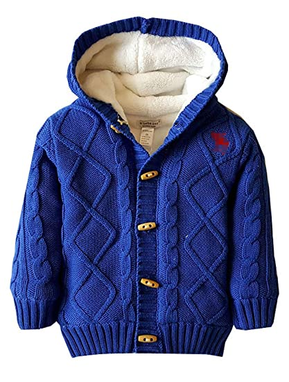 ARAUS Toddler Unisex Baby Christmas Ugly Button-up Cotton Coat Hoodie Cardigan Sweater
