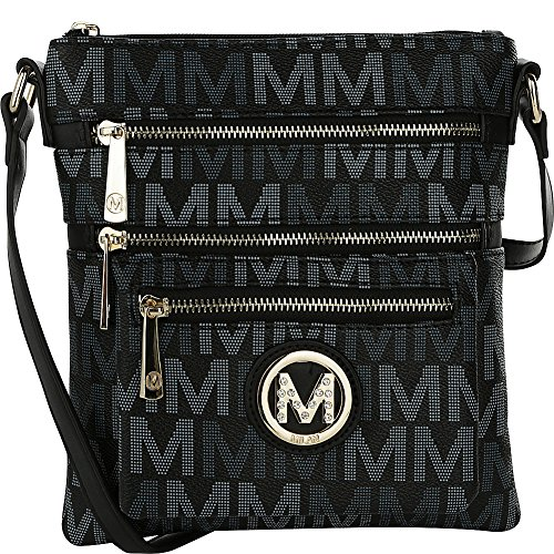 MKF Collection by Mia K. Farrow Beatrice M Signature Multi-Compartment Crossbody - Beatrice Leather