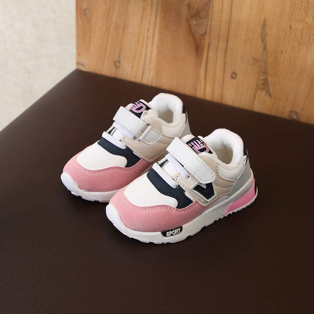 Girls shoes Kids Winter Warm Boots Athletic Sneakers Cotton inside Sports Shoes