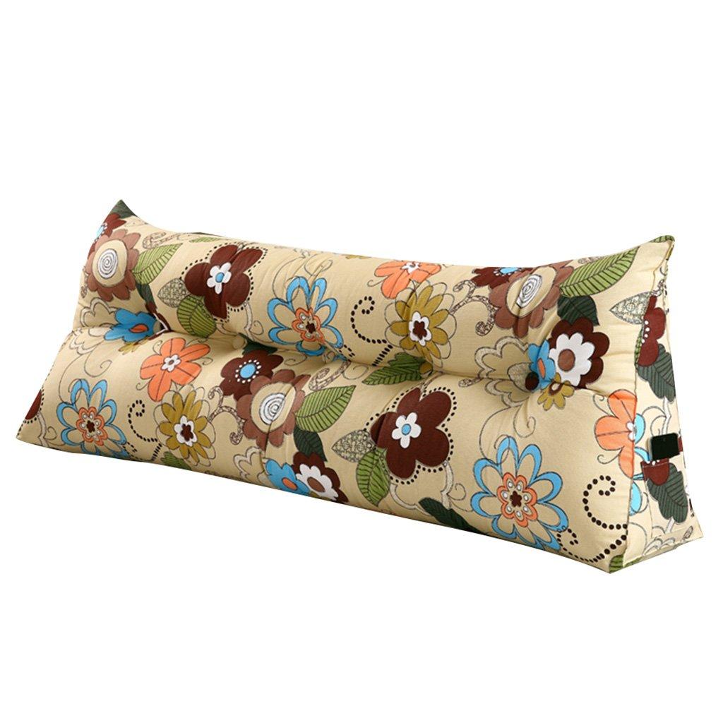 抱き枕 クッションダブルベッドソフトケースベージュトライアングルバックピロー洗える腰のピローブルーPPコットン耐久性と耐久性 (Size : 200 * 50 * 20cm) 200*50*20cm  B07FF2FZLB