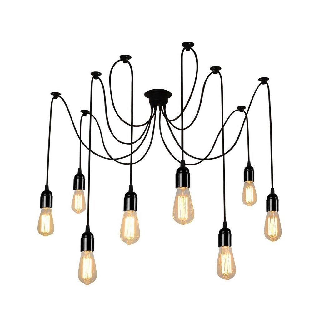 LIUYU Industrie Vintage Edison Mehrere Ajustable Decke Spider Lampe ...