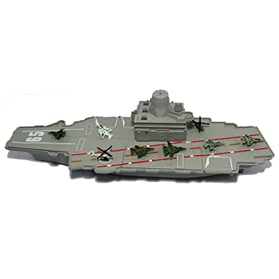 "18"" long Aircraft Carrier with Sound/Lights and 8 Mini Jets (In Retail Box)"