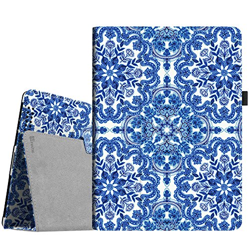 (Fintie iPad 4/3/2 Case - Slim Fit Folio Stand Case Smart Protective Cover Auto Sleep/Wake Feature for Apple iPad 2, iPad 3 & iPad 4th Generation with Retina Display - (Z-Cobalt Blue))