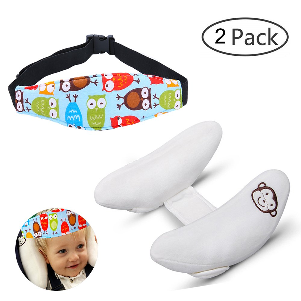 Toddler Adjustable Neck Support Pillow & Safety Head Support Band for Car Seat, Baby Child Infant Head Neck Protection, Colorful Chicken Giant Trees