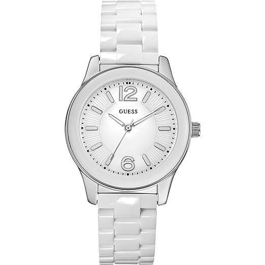 Guess W85105L1 - Reloj para mujeres, correa de plástico color blanco: Amazon.es: Relojes