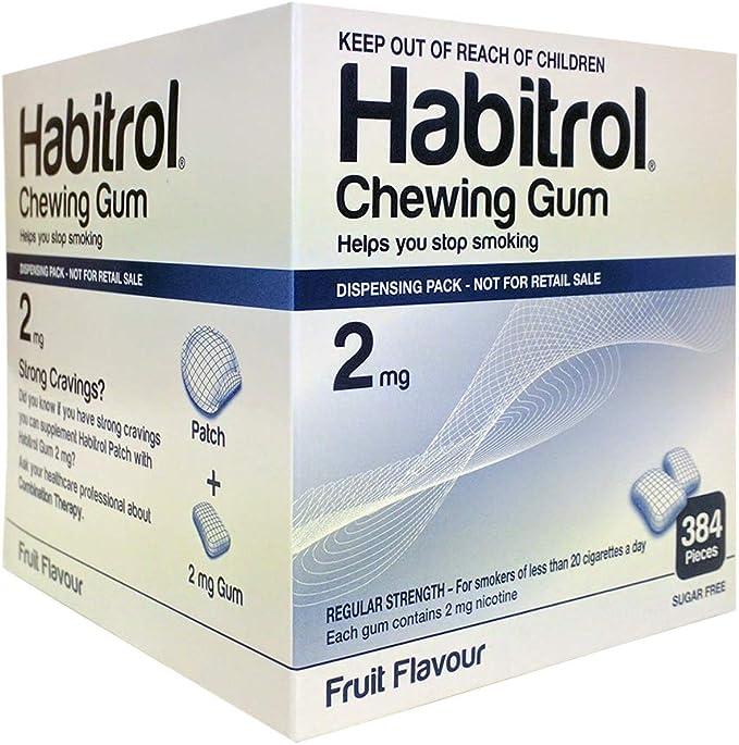 Habitrol Nicotine Gum 2mg Fruit BULK 384 pieces