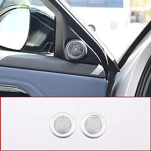CHEYA Aluminum Alloy Car Door Tweeter Speaker Cover Trim Accessories 2pcs for Range Rover Evoque 2020 Year