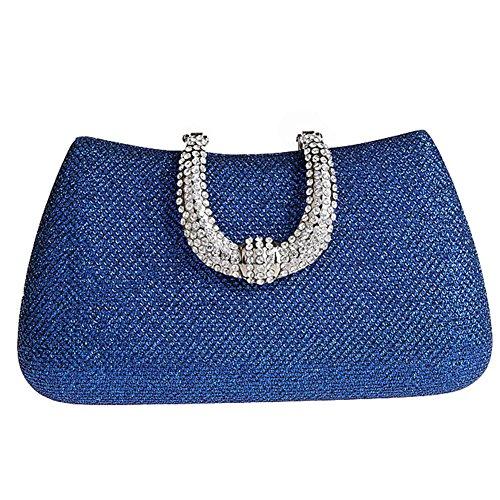 Pochette moyen bleu doré femme pour Flada or PwfqUwS