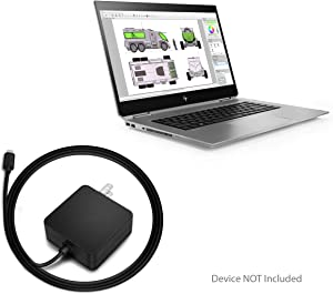 HP ZBook Studio x360 G5 Charger, BoxWave [Wall Charger Direct] Wall Plug Charger for HP ZBook Studio x360 G5