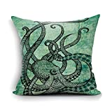 Cool Home Decor Home Decor Sofa Gorgeous Cool Octopus Color Printed Cotton Throw Pillow Case Cushion Cover Standard Size 18