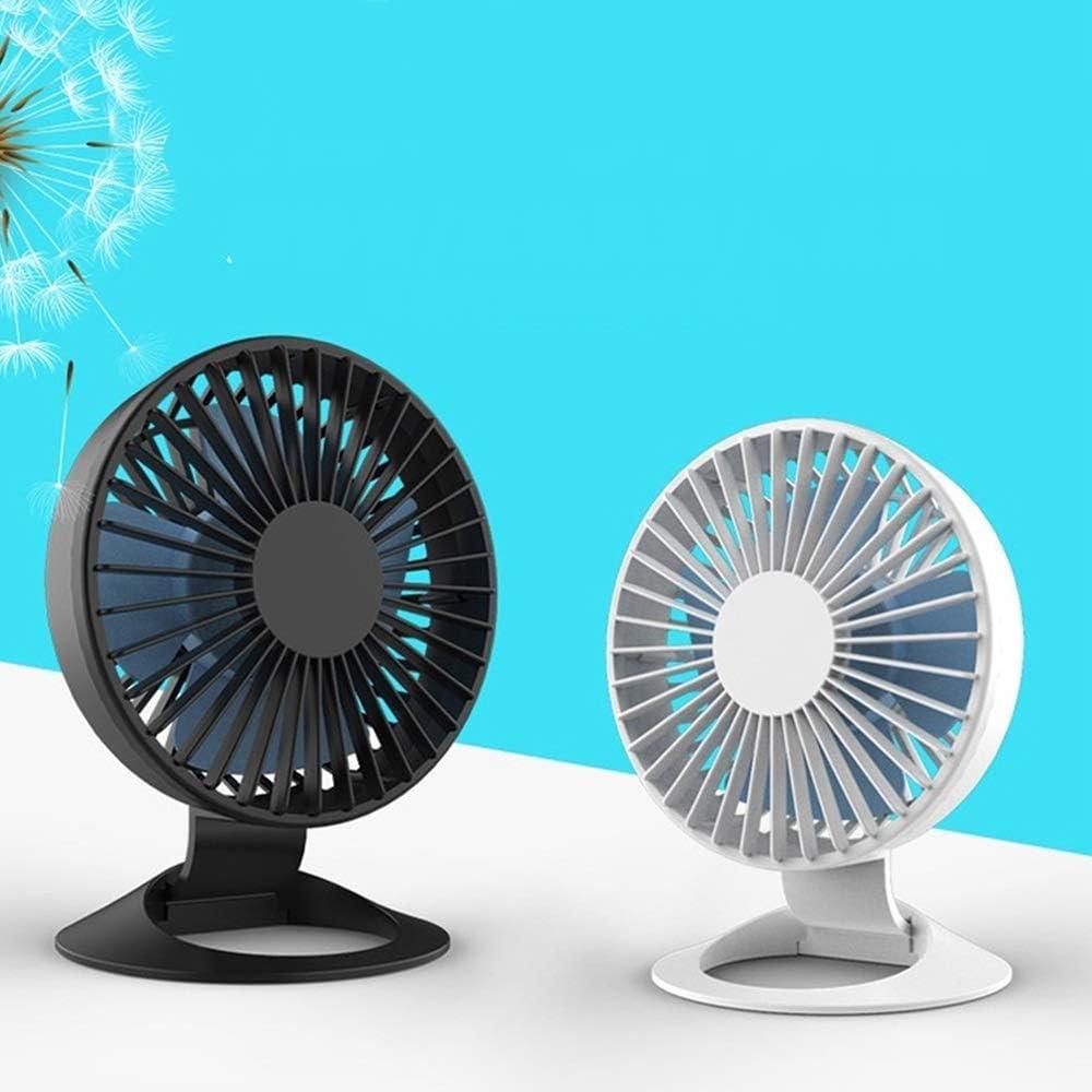 XIAOF-FEN USB Fan Desktop Mini Charging Summer Fan 3 Gear Wind Lightweight Electric Fan Personal Fans USB Fan Color : Black