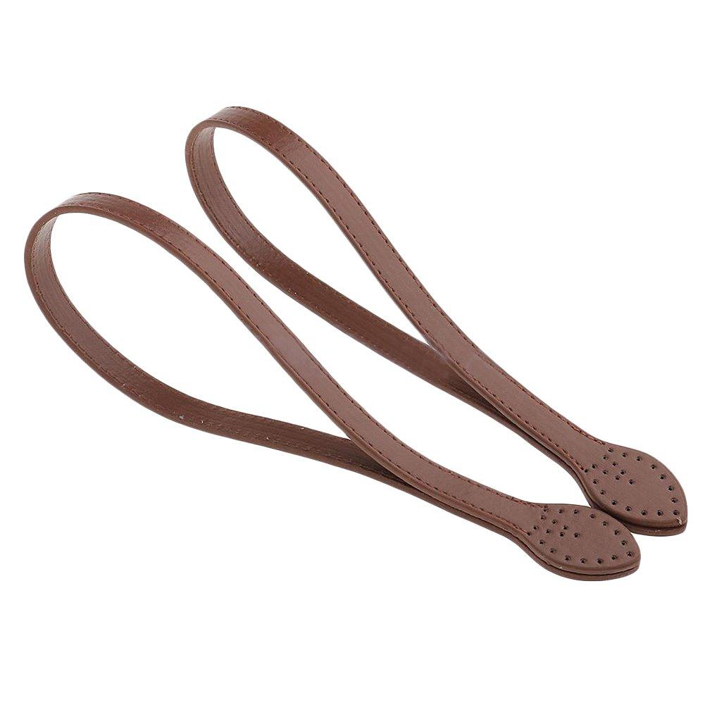 accesorios para hacer bolsos y manualidades Tama/ño libre marr/ón Asas para bolsas 1 par de asas para bolsa de hombro asas de piel sint/ética