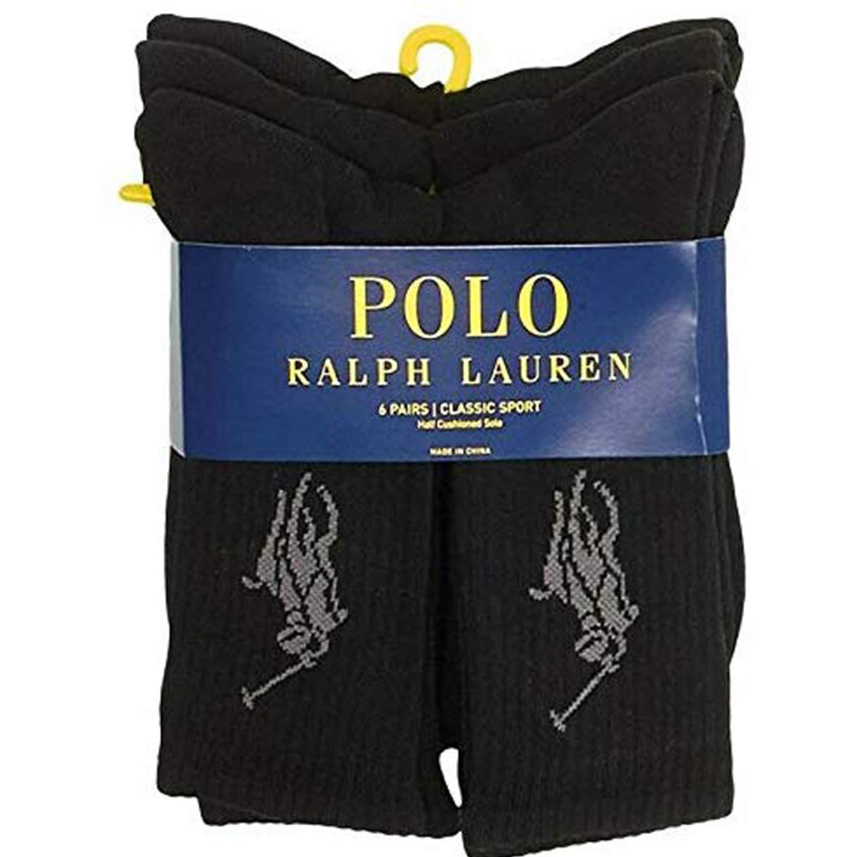 Polo Ralph Lauren - Juego de 6 pares de calcetines - Big Pony Polo ...
