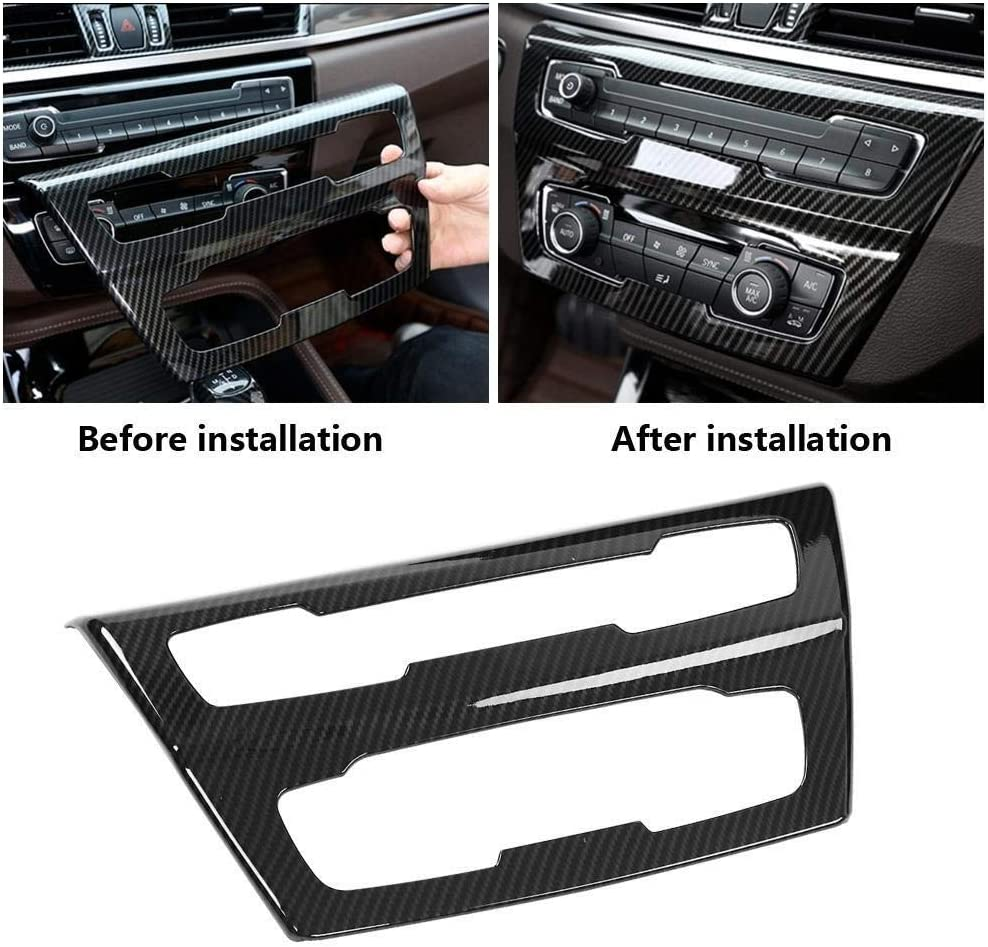 Broco Carbon Fiber Style Center Console CD Panel Trim for BMW X1 F48 2016-2019