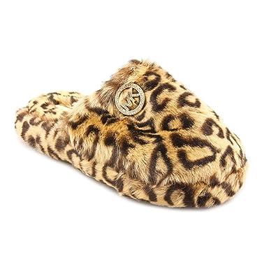 3827b71bbf3d MICHAEL Michael Kors Women s Jet Set Faux-Fur Slippers (Cheetah