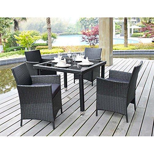 Steel Rectangular Dining Table - 4