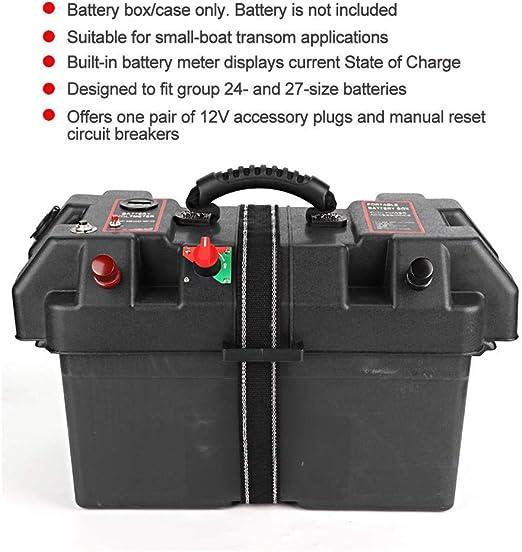 Plastic Minnkota Trolling Motor Power Center Station Battery Box USB /& 12V Charger Port Qii lu Motor Power Center Station