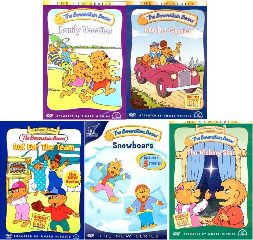 The Berenstain Bears (5 Pack) Family Vacation / Get The Gimmies / Out For The Team / Snowbears / The Wishing Star