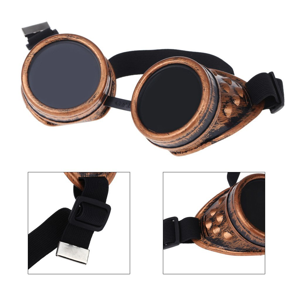 Steampunk Safety Goggles Steam Punk Windproof Vintage Welding Gothic Cosplay Lenses Protective Glasses by Luck2421 Home Decoration Accessories - - Amazon. ...