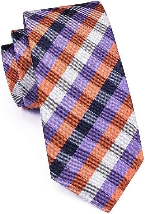 KYDCB Corbata Negro Gris Floral Clásico Moda Hombre Jacquard ...