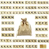 LoveS 100pcs Wood Tiles Letters Great for Crafts, Spelling, Pendants, Scrapbooking, Jewelry Making, DIY