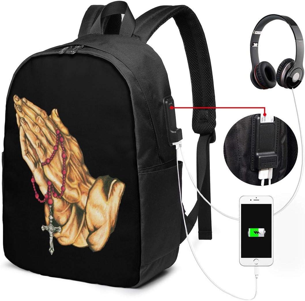 Rhfemd Men Laptop Backpack Water Resistant USB Charger Port Headphone Hole Computer Rucksack Red