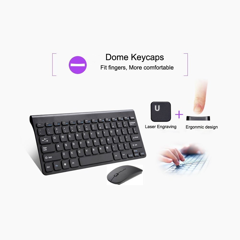 Wireless Keyboard And Mouse Combo Attoe Ultra Thin Sakar Optical Usb Wiring Diagram Noiseless 24ghz For Laptop Mac Tablet Desktop Pc Computer