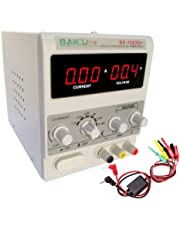 DC Power Supply, 15V 2A Variable Regulated Adjustable Linear DC Lab Kit with Alligator Leads and US Power Cord
