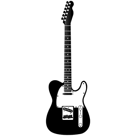 Guitar Wall Sticker Decal 1 Stickers And Mural For Kids Boys Girls Room