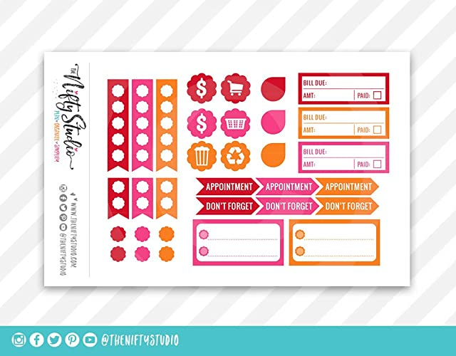 Amazon.com: Planner Stickers Weekly Planning | The Nifty ...