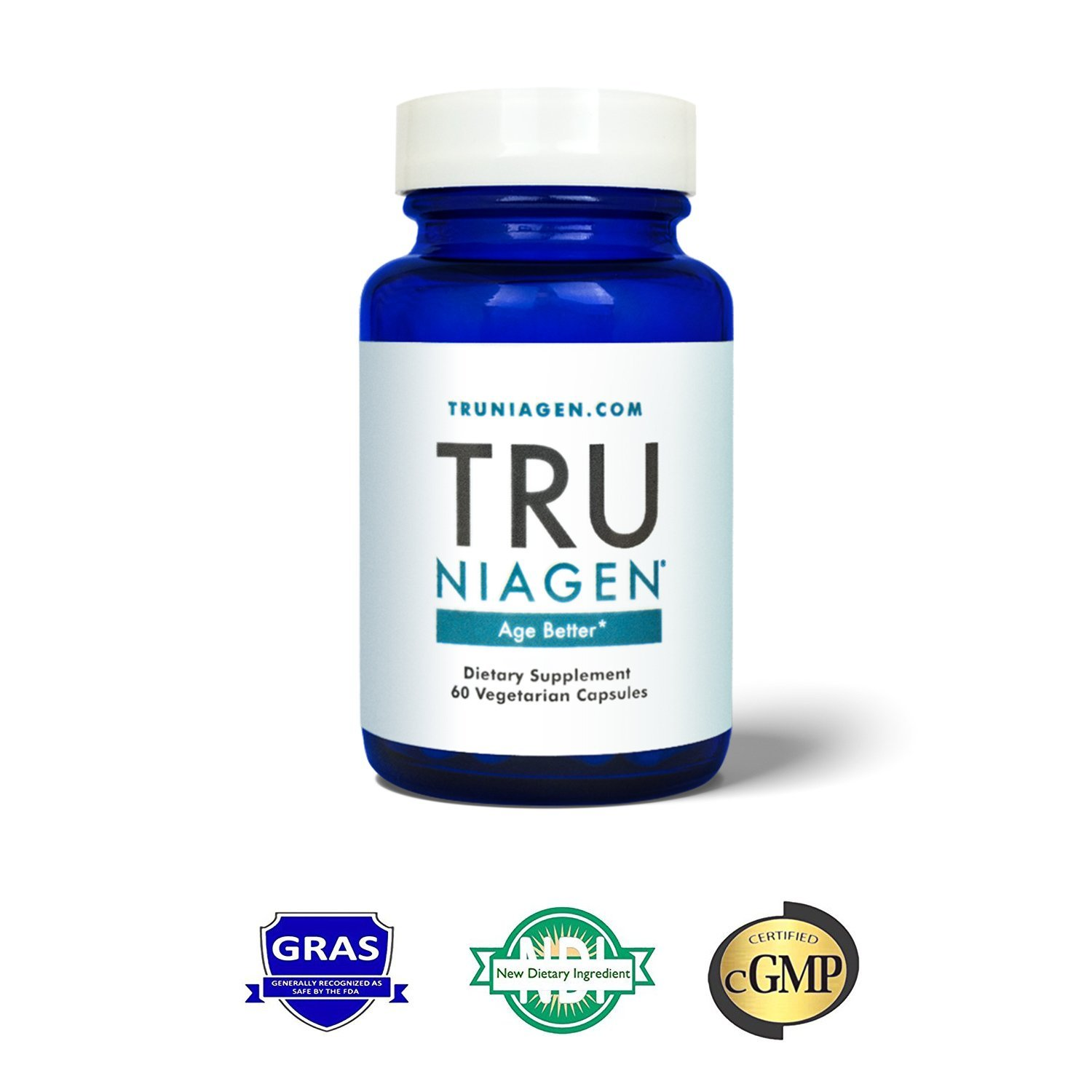 TRU NIAGEN - The world's most advanced NAD+ booster 250mg Per Serving (60 capsules/125mg)