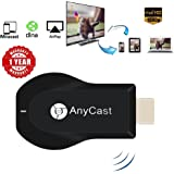 WiFi Display Dongle Receiver 1080P HDMI TV Stick Miracast Media Streamer for Phone Screen Mirroring to TV Support Miracast & Airplay & DLNA