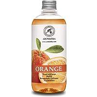 Navulling Sinaasappel 500ml met 100% Puur en Natuurlijke Essentiële Sinaasappel Olie - Intensief & Langdurig Aroma…