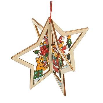 Weihnachtsdeko Material.Caolator 3 Pieces Weihnachtsbaum Skulptur Woody Dekoration