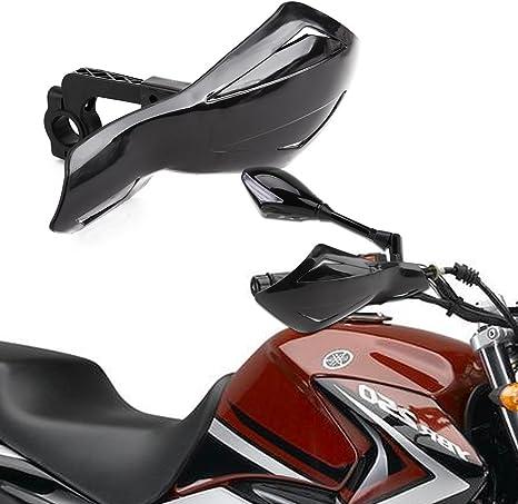 "Pair Plastic White 7//8/"" 22mm Motorcycle Handlebar Brush Bar Handguard Protection"