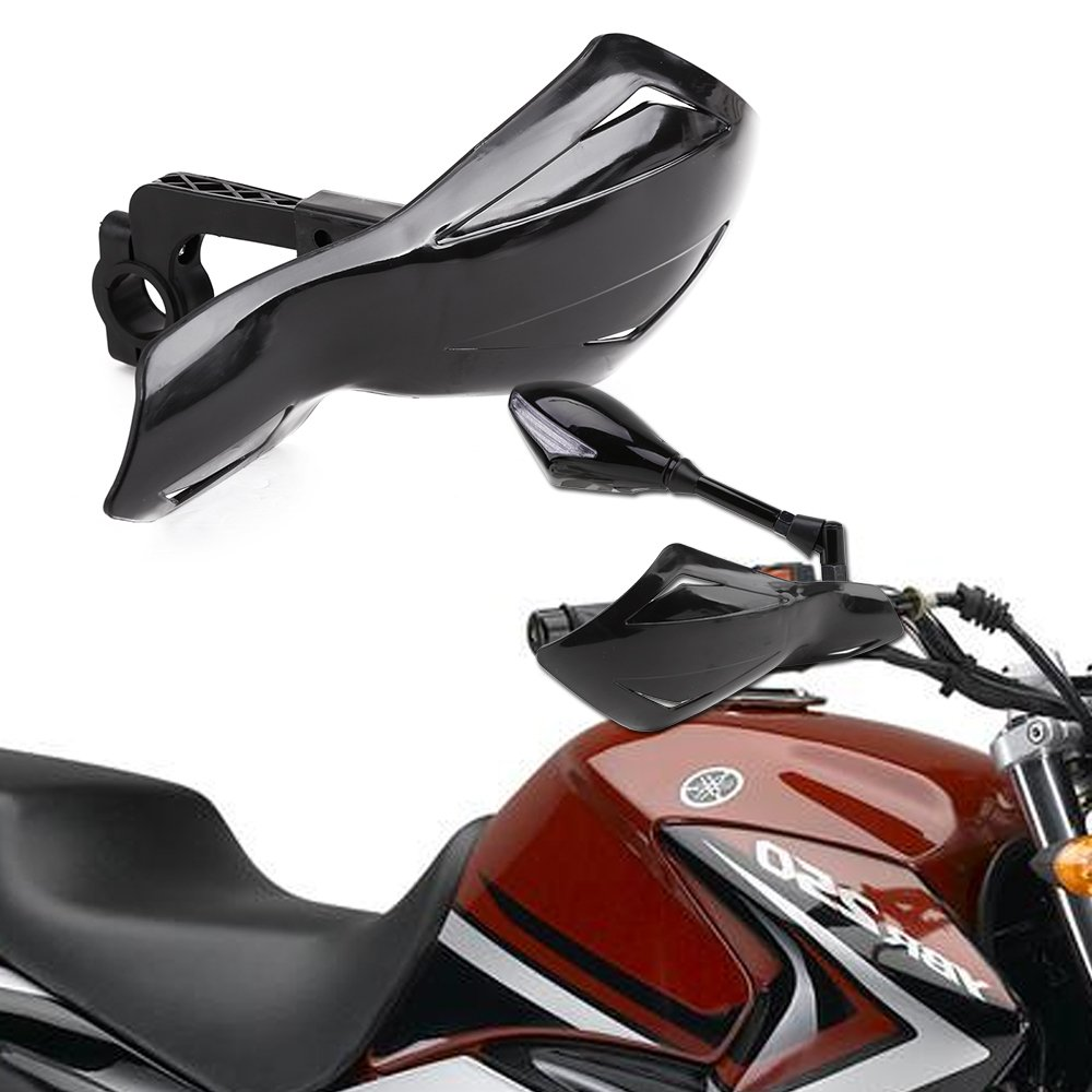 SurePromise PAIRE Protection COUVRE MAIN Moto Scooter barre guidon 7//8 22mm Protege Noir