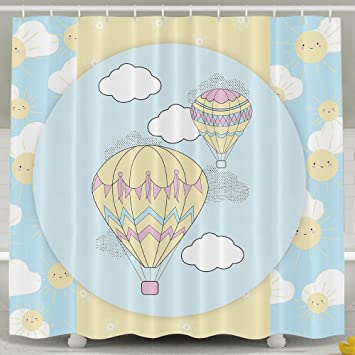 Exceptionnel Hot Air Balloons Bathroom Shower Curtain, Waterproof Bath Decorations  Bathroom Decor Sets With Hooks