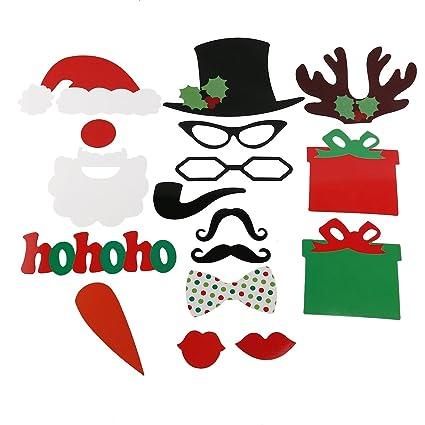 735538e6d28d5 Amazon.com  Tinksky 17pcs Photo Booth DIY Glasses Moustache Red Lips ...